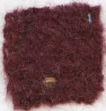 Waratah Mohair Pile Throw Fringed -2 ends-Aubergine.