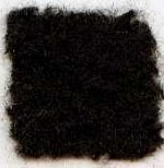 Waratah Mohair Pile Throw Fringed -2 ends-Black.