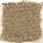 Waratah Luxury Pure Mohair Pile Throw Fringed on two ends. Solid-Flax.