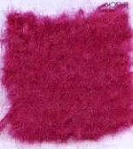 Waratah Luxury Pure Mohair Pile Throw Fringed on two ends. Solid-Fuschia.