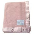 Waratah Merino Wool Baby Bassinet Blanket Tea Rose