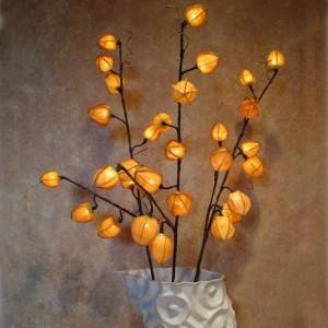 Chinese Orange Lanterns Branches 30 Bulbs -Light Garden