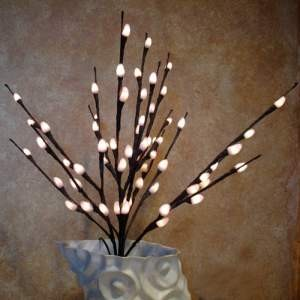 Pussy Willow (Natural) Lights 60 Bulbs -Light Garden