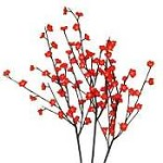 Red Plum Tree Flower Lights 96 Bulbs -Light Garden