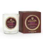 Voluspa Figue de Bordeaux Boxed Votive in Glass