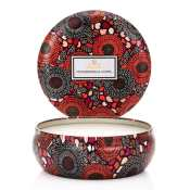 Voluspa Persimmon Copal 3 Wick Candle Tin