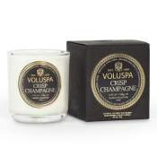 Voluspa Crisp Champagne Boxed Votive in Glass
