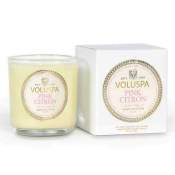Voluspa Pink Citron Boxed Votive in Glass