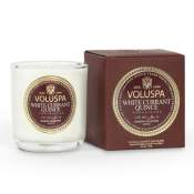 Voluspa White Currant Quince Versailles Boxed Votive in Glass