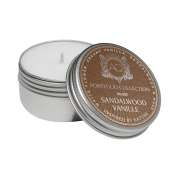 Aquiesse Sandalwood Vanille Soy 20 Hr. Travel Tin Candle