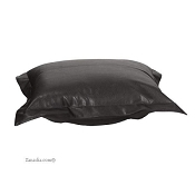 Howard Elliott puff ottoman cover with cushion-Avanti Black