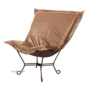 Howard Elliott puff chair-Avanti Bronze