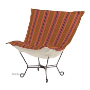 Chicago Textile Puff Chair-Baja Punch