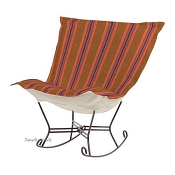 Chicago Textile Puff Rocker-Baja Punch-Indoor