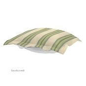 CTC Puff Ottoman replacement cover with cushion-Baja Willow-Patio