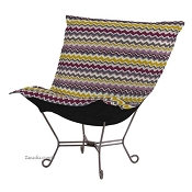Chicago Textile Puff Chair-Bolt Eggplant
