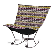 Chicago Textile Puff Rocker-Bolt Eggplant