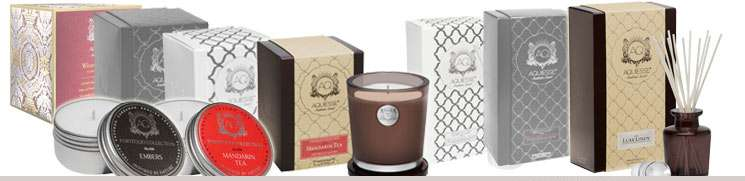 Aquiesse Black and White Diffusers and Soy Candles