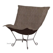 Howard Elliott puff chair-Coco Slate