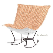 Chicago Textile Puff Rocker-Geo Tangerine-Indoor
