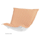 CTC Puff Chair replacement cover with cushion-Geo Tangerine-Patio