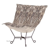 Chicago Textile Puff Chair-Ikat Stone
