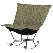 Chicago Textile Puff Rocker-Ikat Willow