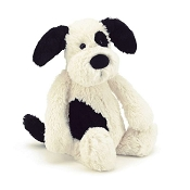 Jellycat Bashful Puppy Black & Cream Medium