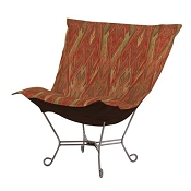 Chicago Textile Puff Chair-Ikat Earth