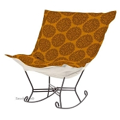 Chicago Textile Puff Rocker-Medallion Spice