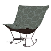 Chicago Textile Puff Rocker-Medallion Teal