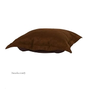 CTC puff ottoman replacement cover with cushion-Microsuede Chocolate