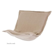 puff chair replacement cover with cushion-Prairie Linen Natural