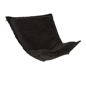 Puff Chair replacement cover with cushion-Angora Ebony
