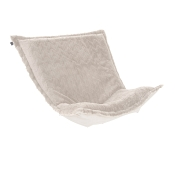 Puff Chair replacement cover with cushion-Angora Natural