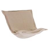 Puff Chair replacement cover with cushion-Linen Slub Natural