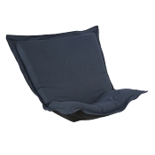 Puff Chair replacement cover with cushion-Linen Slub Indigo