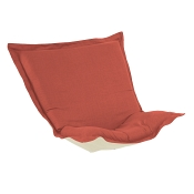 Puff Chair replacement cover with cushion-Linen Slub Poppy