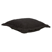 Puff Ottoman replacement cover with cushion-Angora Ebony