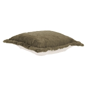 Puff Ottoman replacement cover with cushion-Angora Moss
