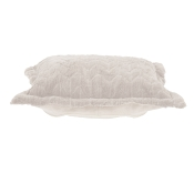 Puff Ottoman replacement cover with cushion-Angora Natural