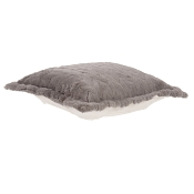 Puff Ottoman replacement cover with cushion-Angora Stone