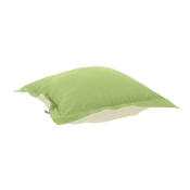 Puff Ottoman replacement cover with cushion-Linen Slub Grass