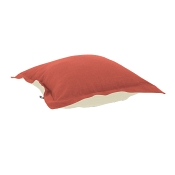 Puff Ottoman replacement cover with cushion-Linen Slub Poppy