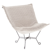 Howard Elliott Puff Chair-Angora Natural