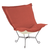 Howard Elliott Puff Chair-Linen Slub Poppy