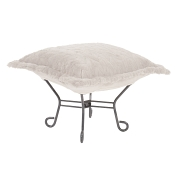 Howard Elliott Puff Ottoman-Angora Natural