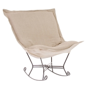 Howard Elliott Puff Rocker-Linen Slub Natural
