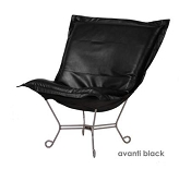 Howard Elliott puff chair-Avanti Black