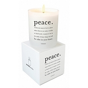 <i>Peace</i> Quotable Candle- Wild Currant scent